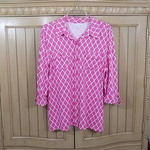 EUC, Charter Club blouse, sz XL